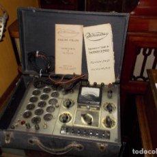 Radios antiguas: COMPROBADOR DE LAMPARAS. Lote 243837030