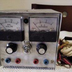 Radio antiche: FUENTE DE ALIMENTACIÓN DE 0 A 30 V CON VOLTÍMETRO Y AMPERÍMETRO - LIQUIDACIÓN POR CIERRE DE PÁGINA. Lote 244704460
