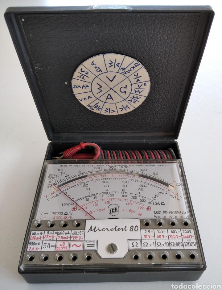 TESTER VINTAGE ANALÓGICO ICE MICROTEST 80 (Radios - Aparatos de Reparación y Comprobación de Radios)