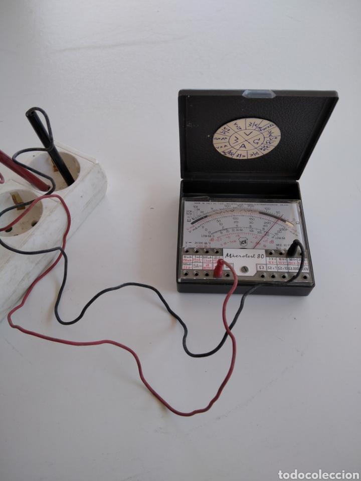 Radios antiguas: Tester vintage analógico ICE microtest 80 - Foto 2 - 244866860