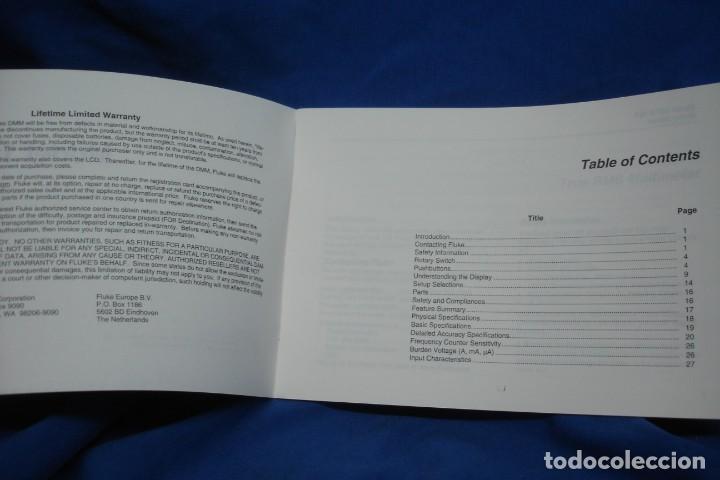 Radios antiguas: MANUAL DE USO DEL TESTER O MULTÍMETRO FLUKE 187 & 189 - Foto 2 - 245292980