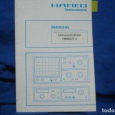Radios antiguas: MANUAL DE USO DEL HAMEG HM8021-3 - HAMEG INSTRUMENTS. Lote 245294485