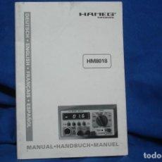 Radios antiguas: MANUAL DE USO DEL HAMEG HM8018 - HAMEG INSTRUMENTS. Lote 245479865
