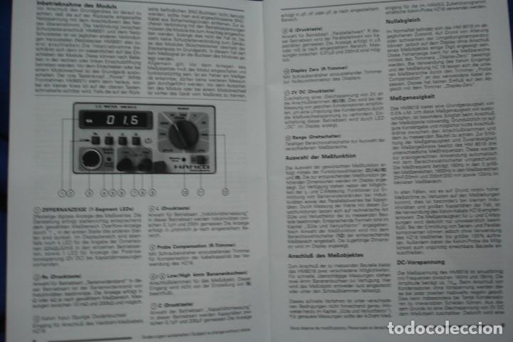Radios antiguas: MANUAL DE USO DEL HAMEG HM8018 - HAMEG INSTRUMENTS - Foto 3 - 245479865