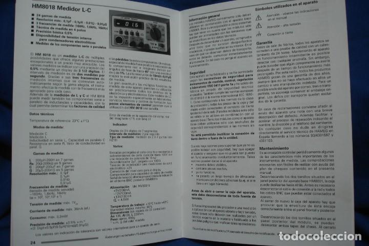 Radios antiguas: MANUAL DE USO DEL HAMEG HM8018 - HAMEG INSTRUMENTS - Foto 4 - 245479865
