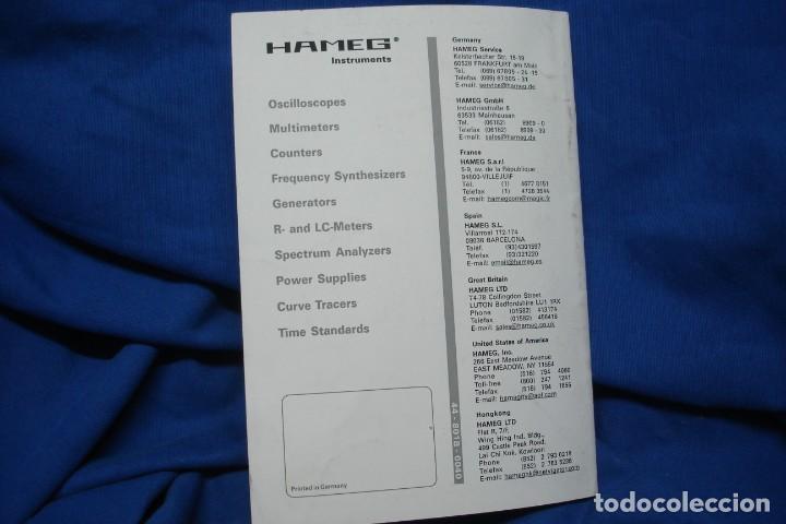 Radios antiguas: MANUAL DE USO DEL HAMEG HM8018 - HAMEG INSTRUMENTS - Foto 5 - 245479865
