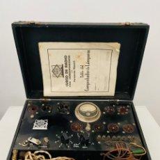 Radios Anciennes: COMPROBADOR VÁLVULAS MAYMÓ. Lote 247990055