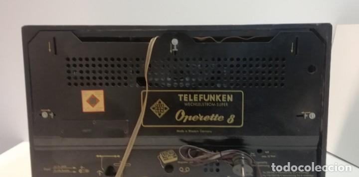 Radios antiguas: Antigua Radio Telefunken, Operette 8 . FUNCIONANDO MUY BUEN SONIDO!! y estado!!!!!!!!!!!! - Foto 8 - 251358080