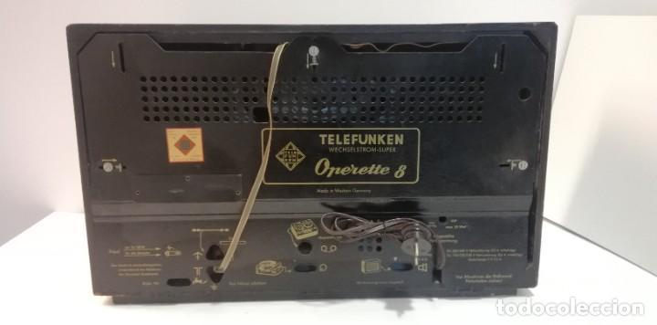 Radios antiguas: Antigua Radio Telefunken, Operette 8 . FUNCIONANDO MUY BUEN SONIDO!! y estado!!!!!!!!!!!! - Foto 9 - 251358080