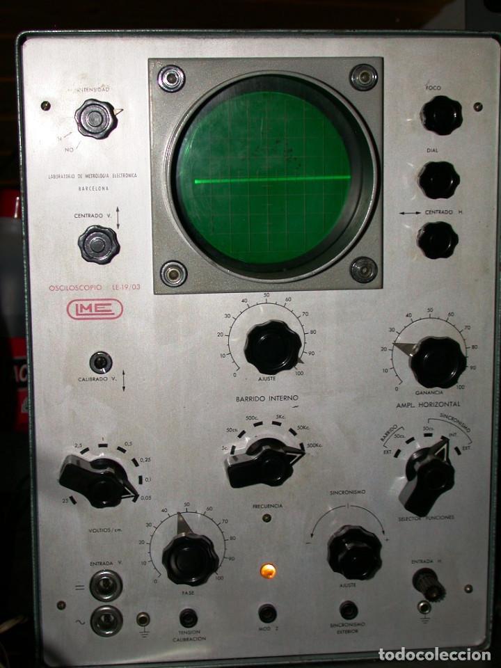 OSCILOSCOPIO LME 19/03 CON SONDAS. (Radios - Aparatos de Reparación y Comprobación de Radios)