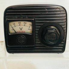 Radios antiguas: VOLTIMETRO - CETRA TIPO B-3 - BAQUELITA, PERFECTO. Lote 254917140