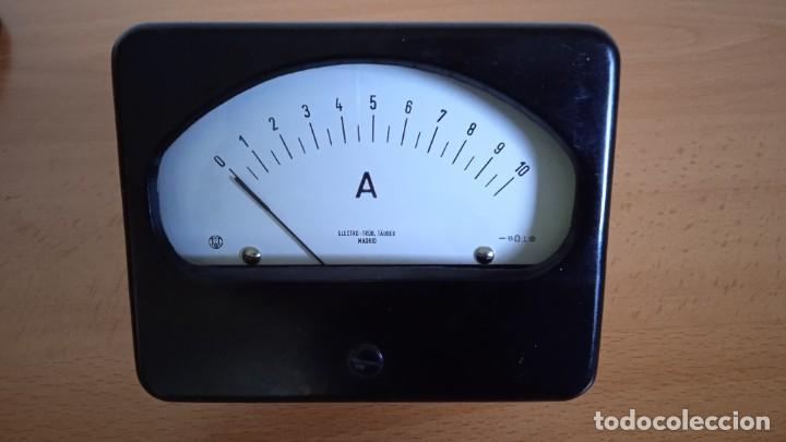 MILIAMPERÍMETRO AMPERÍMETRO DC 0-10 MILIAMPERIOS 0-10A CON SUN. (Radios - Aparatos de Reparación y Comprobación de Radios)