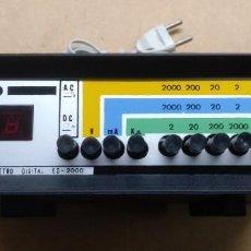 Radio antiche: ELECTRONICA, MULTIMETRO DIGITAL ED 2000 - CREO QUE FUNCIONA BIEN. Lote 258036700
