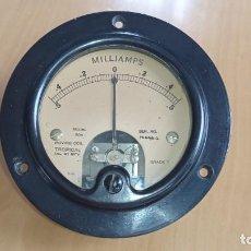 Radios antiguas: MILIAMPERÍMETRO DE PRECISIÓN DC 0-5 MILIAMPERIOS.. Lote 172282555