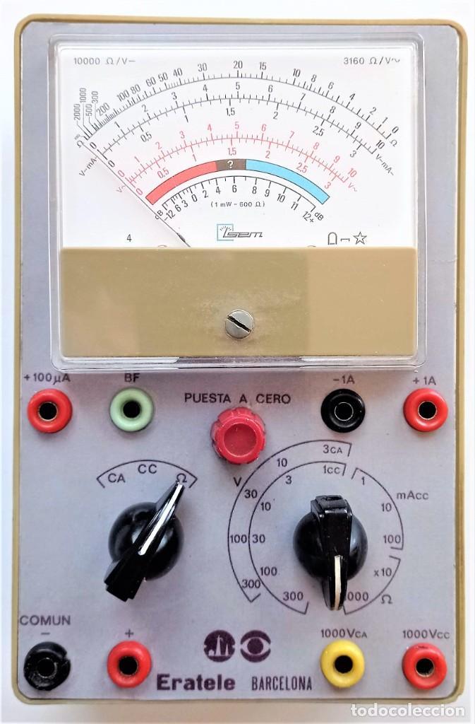 MULTIMETRO DEL CRUSO ERATELE (Radios - Aparatos de Reparación y Comprobación de Radios)