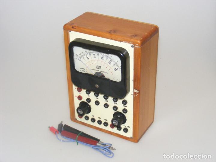 TESTER/ MULTÍMETRO DEL CURSO AFHA - CAJA DE MADERA - ANALIZADOR UNIVERSAL - NO COMPROBADO. (Radios - Aparatos de Reparación y Comprobación de Radios)