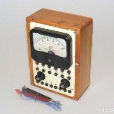 Radios antiguas: TESTER/ MULTÍMETRO DEL CURSO AFHA - CAJA DE MADERA - ANALIZADOR UNIVERSAL - NO COMPROBADO.. Lote 262448710