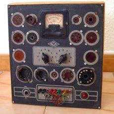 Radios antiguas: COMPROBADOR DE VÁLVULAS DE RADIO MAYMO...SANNA. Lote 262454285
