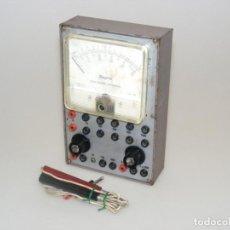 Radios antiguas: TESTER/ MULTÍMETRO DEL CURSO AFHA - CAJA METÁLICA - ANALIZADOR UNIVERSAL - NO COMPROBADO.. Lote 262467445