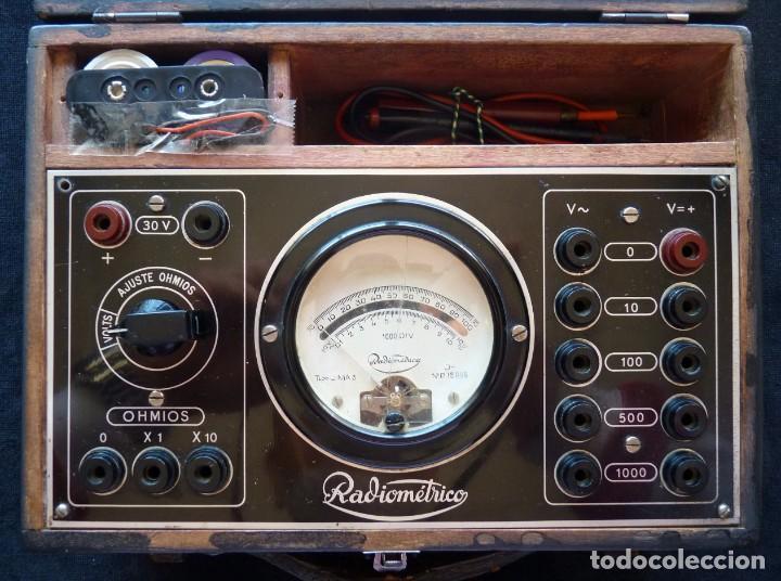 MULTÍMETRO TESTER RADIOMÉTRICO TIPO U.M.A. 3. AÑO 1949 (Radios - Aparatos de Reparación y Comprobación de Radios)