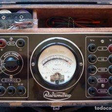 Radios antiguas: MULTÍMETRO TESTER RADIOMÉTRICO TIPO U.M.A. 3. AÑO 1949. Lote 262886015