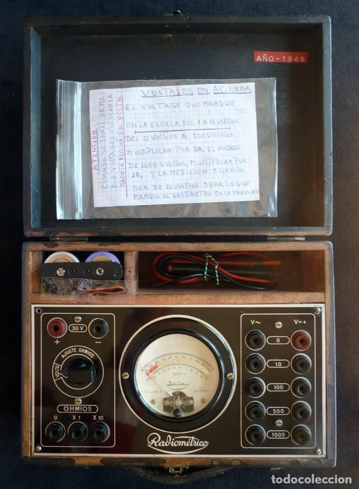 Radios antiguas: MULTÍMETRO TESTER RADIOMÉTRICO TIPO U.M.A. 3. AÑO 1949 - Foto 2 - 262886015