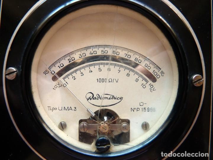 Radios antiguas: MULTÍMETRO TESTER RADIOMÉTRICO TIPO U.M.A. 3. AÑO 1949 - Foto 3 - 262886015