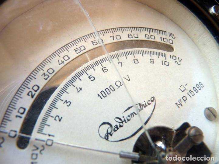 Radios antiguas: MULTÍMETRO TESTER RADIOMÉTRICO TIPO U.M.A. 3. AÑO 1949 - Foto 4 - 262886015