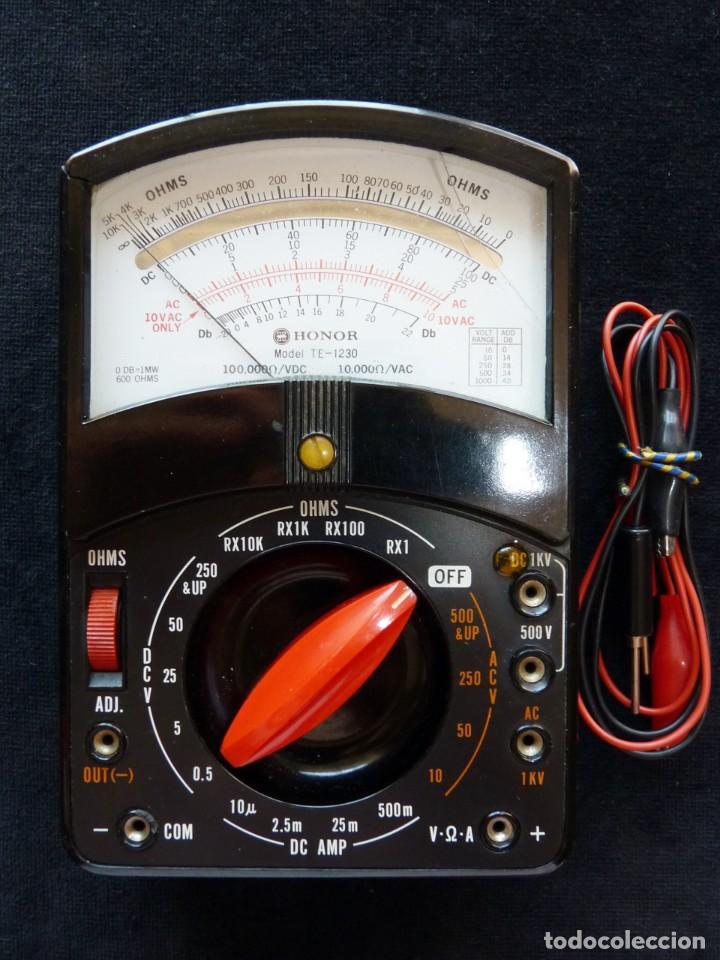 MULTÍMETRO TESTER HONOR. MOD. TE-1230. JAPÓN, AÑOS 60. FUNCIONANDO (Radios - Aparatos de Reparación y Comprobación de Radios)