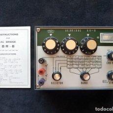 Radios antiguas: BELCO AC BRIDGE BR-8. JAPÓN, AÑO 1968. AC PUENTE DE MEDICIÓN. Lote 262886605