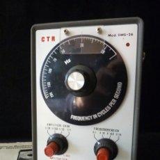Radios antiguas: GENERADOR DE BAJA FRECUENCIA. CTR NF-GENERATOR MOD. SWG-26. ALEMANIA, 1967. FUNCIONANDO. Lote 262887270