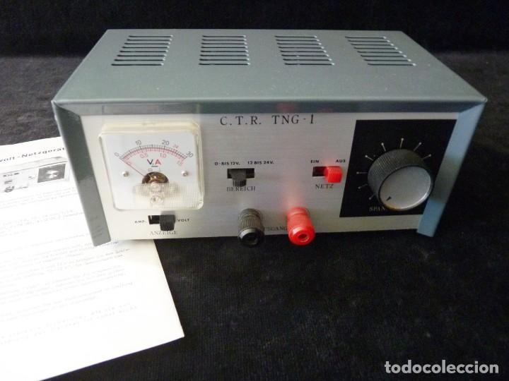 FUENTE DE ALIMENTACION DE BAJA TENSION VOLTAJE. C.T.R. TNG-1. FUNCIONANDO (Radios - Aparatos de Reparación y Comprobación de Radios)