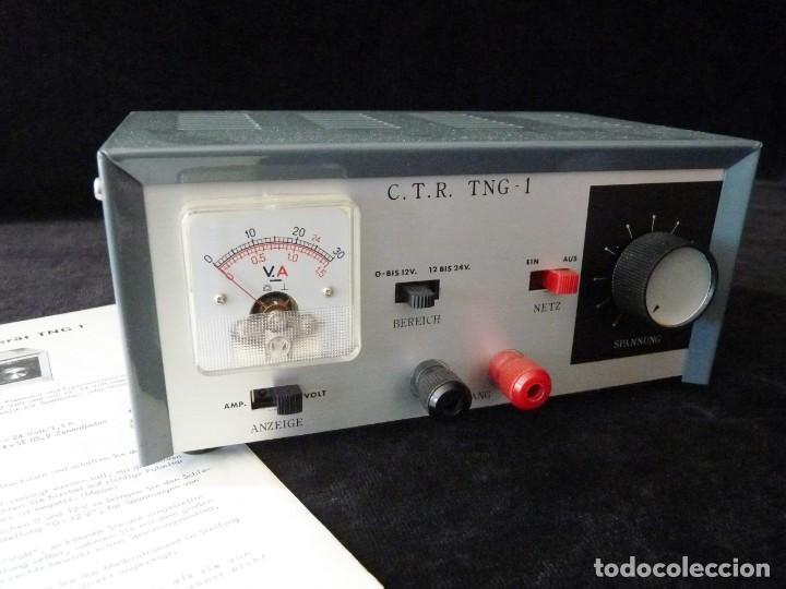 Radios antiguas: FUENTE DE ALIMENTACION DE BAJA TENSION VOLTAJE. C.T.R. TNG-1. FUNCIONANDO - Foto 2 - 262891550