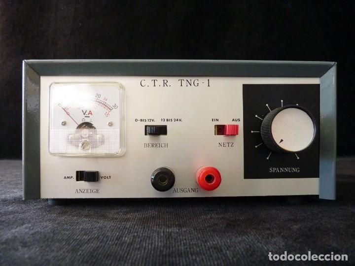 Radios antiguas: FUENTE DE ALIMENTACION DE BAJA TENSION VOLTAJE. C.T.R. TNG-1. FUNCIONANDO - Foto 3 - 262891550
