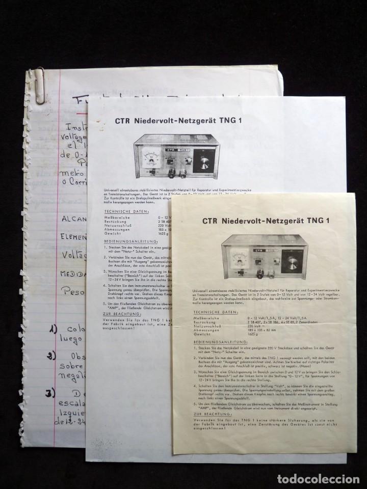 Radios antiguas: FUENTE DE ALIMENTACION DE BAJA TENSION VOLTAJE. C.T.R. TNG-1. FUNCIONANDO - Foto 8 - 262891550