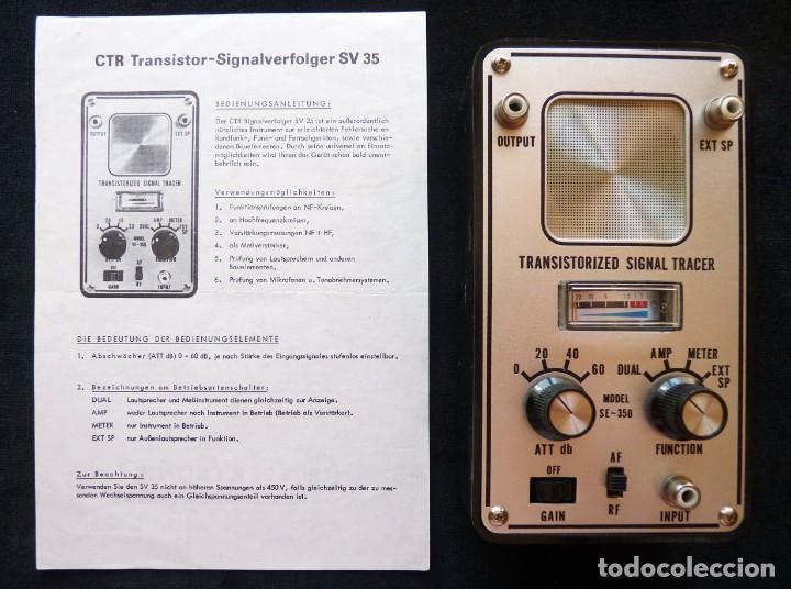 RASTREADOR DE SEÑALES DE TRANSISTORES CTR ELEKTRONIK, MOD. SV-35. ALEMANIA, AÑOS 60 (Radios - Aparatos de Reparación y Comprobación de Radios)