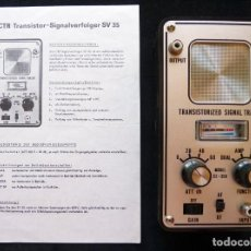 Radio antiche: RASTREADOR DE SEÑALES DE TRANSISTORES CTR ELEKTRONIK, MOD. SV-35. ALEMANIA, AÑOS 60. Lote 262892485