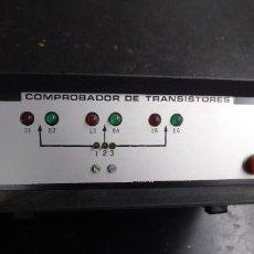 Radio antiche: ELECTRONICA, APARATO COMPROBADOR DE TRANSISTORES, NO SE SI FUNCIONA BIEN. Lote 273194788