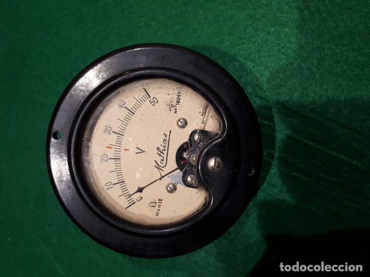 VOLTIMETRO ANTIGUO MATHIAS MODELO 12 (Radios - Aparatos de Reparación y Comprobación de Radios)