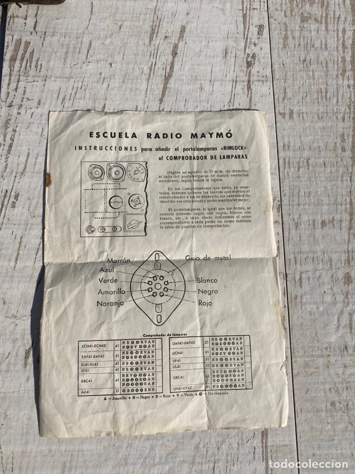 Radios antiguas: Antiguo comprobador de valvulas de radio - Foto 7 - 278810028