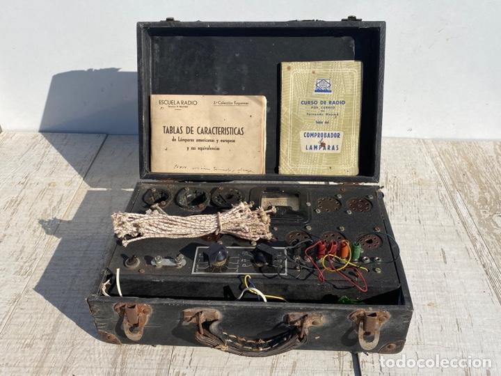 ANTIGUO COMPROBADOR DE VALVULAS DE RADIO (Radios - Aparatos de Reparación y Comprobación de Radios)
