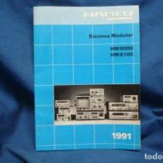 Radios antiguas: CATÁLOGO HAMEG - SISTEMA MODULAR HM 8000/ HM 8100 DEL AÑO 1991. Lote 246778200