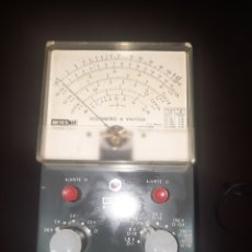 Radios antiguas: VOLTIMETRO A VALVULA RETEX. Lote 286604373