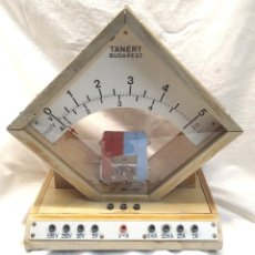 Radios antiguas: TANERT MEDIDOR V/A SOBREMESA SIN ALIMENTACIÓN AÑOS 60 BUDAPEST. Lote 288600708
