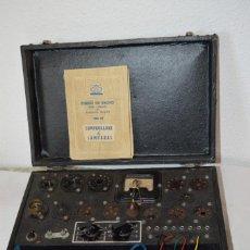 Radios antiguas: ICONO AÑOS 50/60 - COMPROBADOR LÁMPARAS / VÁLVULAS - MODELO MALETÍN MAYMO, CON DOCUMENTACIÓN ¡MIRA!. Lote 291166188