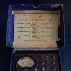 Radios antiguas: ANTIGUO ANALIZADOR VOLTIMETRO, MILIAMPERIMETRO, OHMETRO, MARCA ER, CONSERVA SU CAJA ORIGINAL.. Lote 294169728