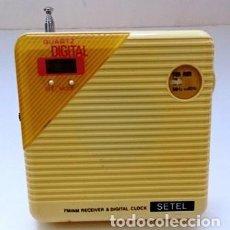 Radios antiguas: RADIO TRANSISTOR, MARCA SETEL, QUARTZ DIGITAL. RADIOTRAN-04. Lote 295499208