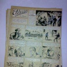 Comics: PLANCHAS ORIGINALES DE EL ZORRO - MEDIDAS 36 X 27 CM - 6 PAG ORIG. COMIC ART BY DIEGO BAAMONDE. Lote 27503056
