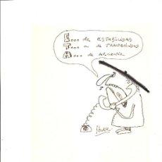 Cómics: DIBUJO ORIGINAL HURBE. Lote 25945488