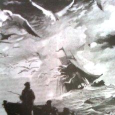 Cómics: DAVID MORTON-MIS LAMINÁ-S POP-SERIE APHA 70´S- BALLESTAR- MOBY DICK (MELVILLE) - CARTULINA A4. Lote 106036891